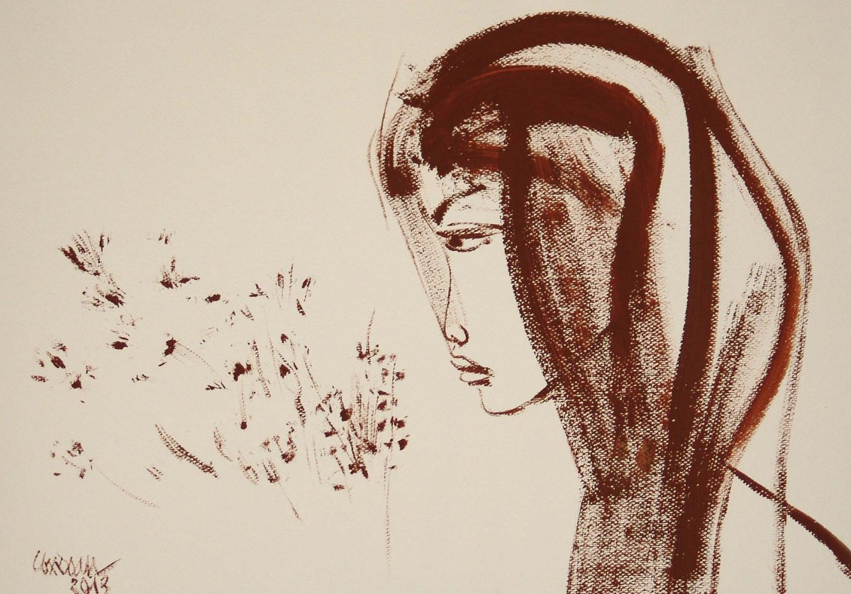 Lương Xuân Đoàn: Aino. Akvarelli. 2013.